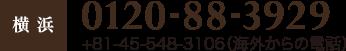 0120-88-3929 +81-45-548-3106(海外からの電話)